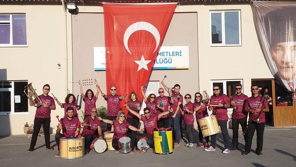 30 Ağustos Zafer Bayramı için bando (Belediye Etkinliği) Algo-Ritmo Perküsyon Grubu